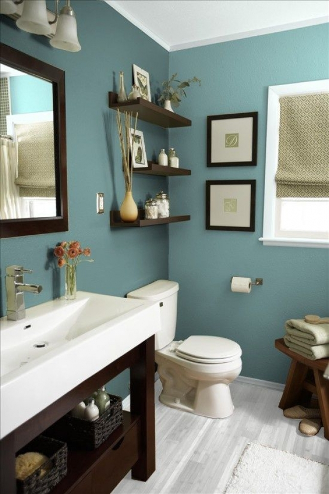 Bathroom colour indigo