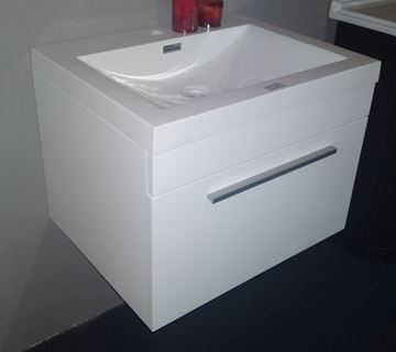 Picture of Modern vanity 600 mm length, 1 soft closing drawer, ref KG600