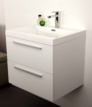 Picture of Stylish vanity 600 mm length, 2 soft closing drawers, Ref KG2D600