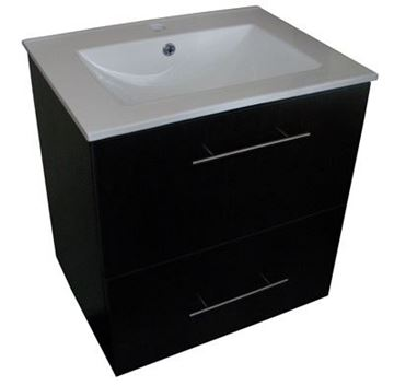 Picture of SALE Mahogany Bathroom Cabinet 600 mm L with CERAMIC basin, ref  CWSC600