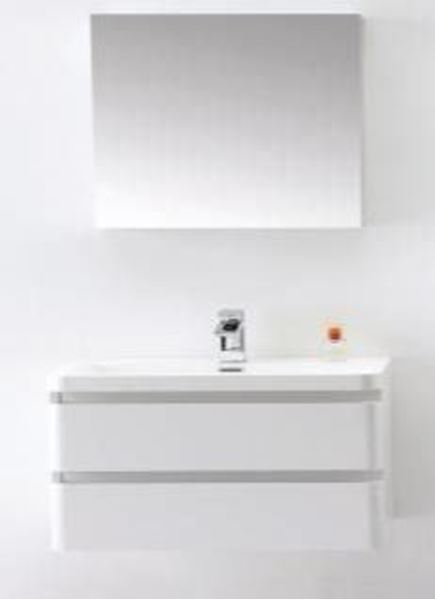 Picture of White vanity 900 mm L, 2  drawers, ref KGG900.