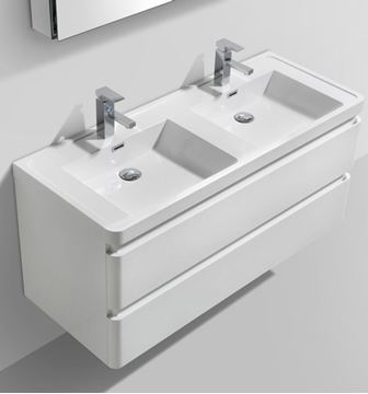 Picture of Elegant Double  Vanity , White, 1200 mm L, 2  drawers, ref KGG1200.