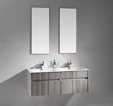 Picture of Modern Double Vanity 1200 mm L, ASH with White sides, 1 drw,  ref KGS1200A.