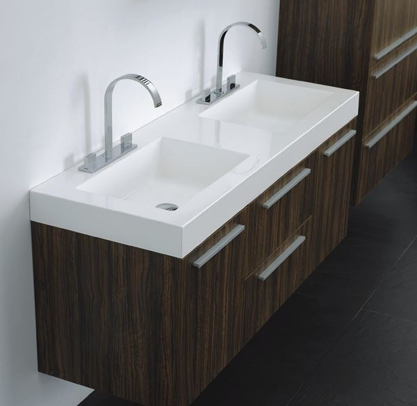 Picture of Smart and practical double vanities 1380 mm length, 4 soft closing drawers, ref KG138.