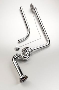 Picture of Gio Overflow bath set with chain and plug