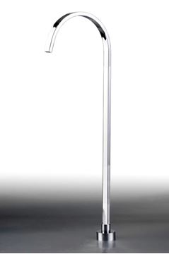 Picture of Elegant FREESTANDING Square Bath SPOUT, Stainless steel and Brass