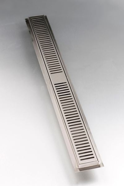 Picture of 860 mm long Stainless Steel shower channel with perforated grid
