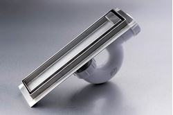 Picture of 250 mm long Stainless Steel shower channel with TILE INSERT