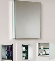 Picture of Mirror Bathroom cabinet / Medicine cabinet with 1 door and 2 shelves, 500 mm L