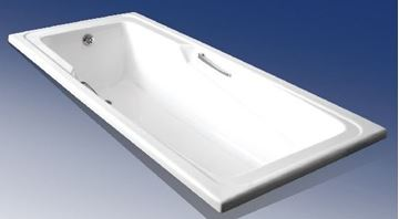 Picture of 1800 x 750mm MIRABELLE Rectangular Acrylic bath