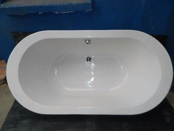 Picture of BELISSIMA Oval bath  built in or with skirting, 1800  x 900
