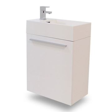 Picture of Export Small cabinet vanity 395 mm Length  x 215 x D630 mm H, 1 door, KC395