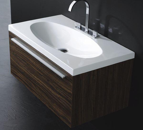 Picture of Export Belle armoire de salle de bain 915L mm, 1 tiroir, ref EKC1D915.