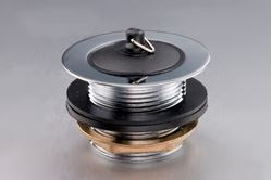 Picture of Bath waste brass 40 mm with rubber plug