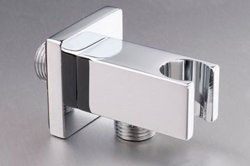 Picture of Brass Square outlet with bracket for hand shower