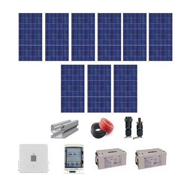 Picture of 5kWh / day -2.4 kWh installed
