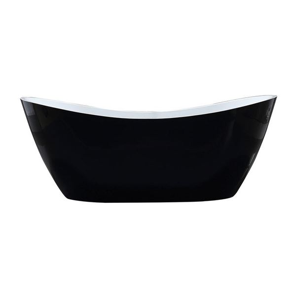 Picture of Bijiou SAVOY Luxurious Freestanding BLACK & White acrylic bath 1800 x 800 x 720 mm H
