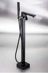 Picture of Black MALTA Contemporary FREESTANDING Square Bath Mixer