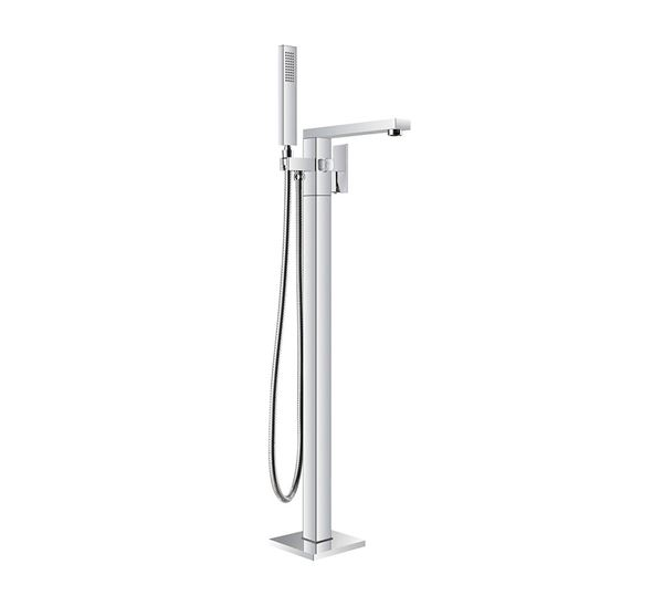 Picture of Bijiou TANZANITE Freestanding bath mixer square style, heavy brass, 12 years guarantee