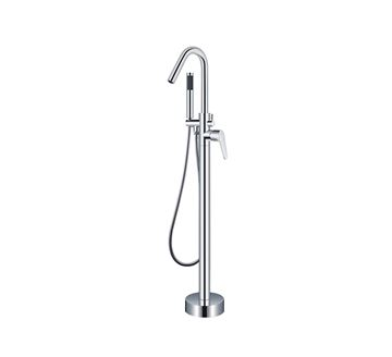 Picture of Bijiou Nova Freestanding bath mixer round style, heavy brass