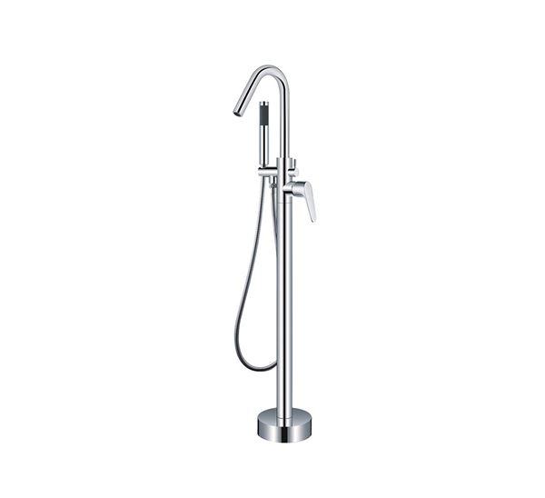 Picture of Bijiou Nova Freestanding bath mixer round style, heavy brass