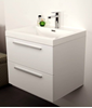 Picture of Modern bathroom cabinet, 600 mm length, 2 drawers, WHITE or GREY-Brown