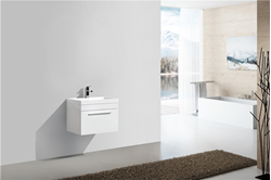 Picture of Narrow bathroom cabinet, 600 mm x 400 mm , 1 drawer, WHITE, ref KGM600W