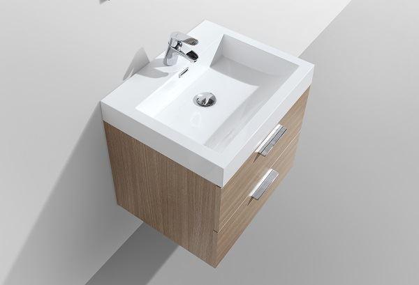 Picture of Trevi Oak Bathroom cabinet, 575 mm length, 2 drawers, ref KC575O