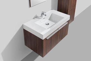 Picture of WALNUT Avella bathroom  cabinet / vanity 900 mm length, 2 doors