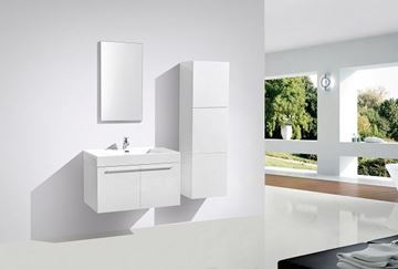 Picture of WHITE Avella bathroom  cabinet / vanity 900 mm length, 2 doors