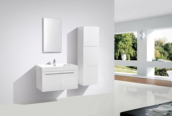 Picture of WHITE Avella bathroom  cabinet / vanity 900 mm length, 2 doors