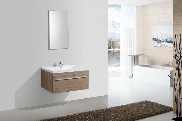 Picture of  OAK Aquilla Elegant Bathroom Cabinet 900 mm L, 1 soft closing drawer with BLUM rails, ref KC900DRO