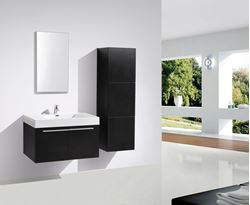 Picture of BLACK Avella bathroom  cabinet / vanity 900 mm length, 2 doors
