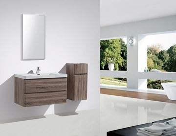 Picture of Milan Contemporary SILVER OAK Bathroom cabinet SET 900 mm L, 2 drawers with BLUM rails