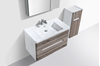 Picture of Trendy Venice bathroom cabinet SET 900 mm L with 2 drawers, WHITE  and Silver Oak