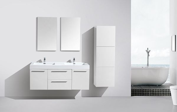 Picture of Novelli  WHITE Double Bathroom Cabinet  with 2 doors and 2 drawers