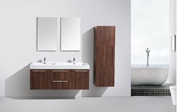Picture of SALE Novelli WALNUT Double Bathroom Cabinet with 2 doors and 2 drawers