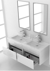 Picture of CLASSY WHITE Double Cabinet 1500 mm L,  ref KG1500W