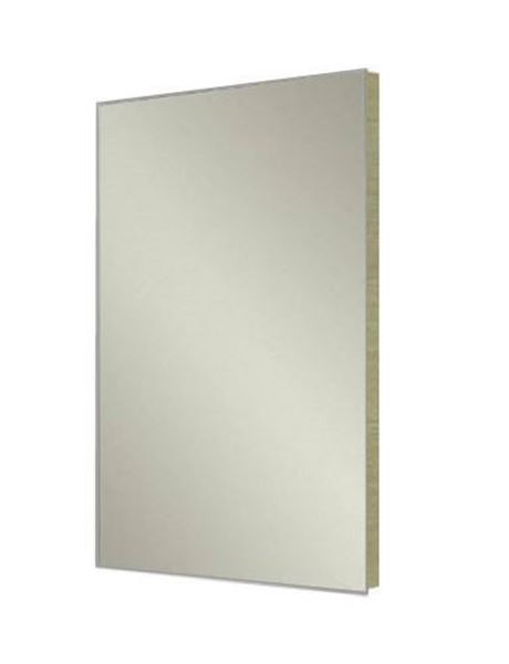 Picture of Stylish Bathroom Mirror with OAK wooden backing, 480 mm x 840 mm, ref KCMR840O