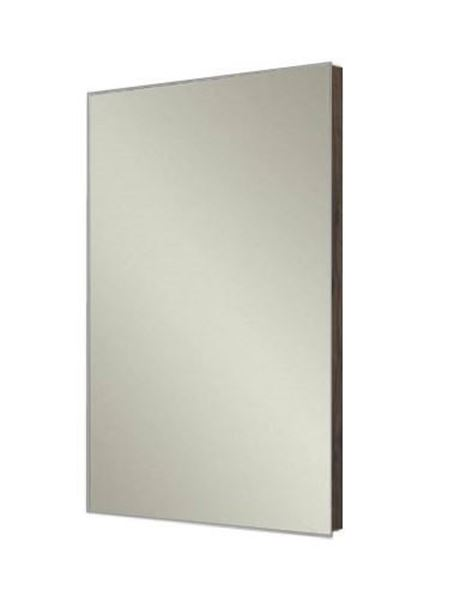 Picture of  Stylish Bathroom Mirror with WALNUT wooden backing, 480 mm x 840 mm, ref KCMR840O