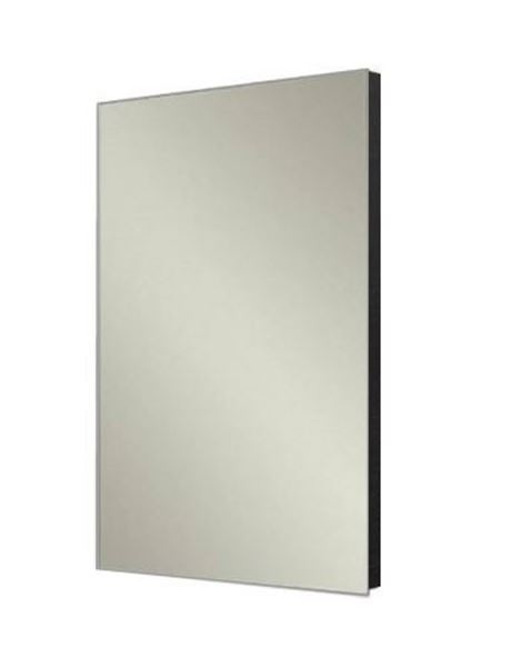 Picture of Stylish Bathroom Mirror with BLACK wooden backing, 480 mm x 840 mm, ref KCMR840B
