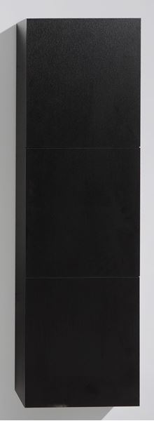 Picture of BLACK TALL Side Cabinet with 3 soft closing doors, 1500 H x 450 L x 300 D