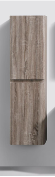 Picture of Milan SILVER OAK Side Cabinet, 2 doors, 1500 H x 400 L x 300 D