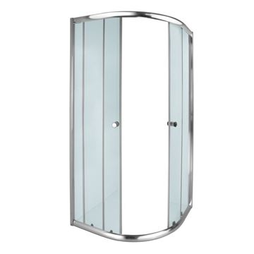 Picture of AQUILA corner Round SHOWER ENCLOSURE 900 x 900 x 1850 mm, 5 mm tempered glass, Bright Chrome rails