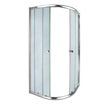 Picture of AQUILA corner Round SHOWER ENCLOSURE 900 x 900 x 1850 mm, 5 mm tempered glass, Bright Chrome rails