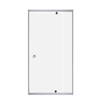 Picture of PIVOT shower door only, 5 mm tempered glass, adjustable white frame