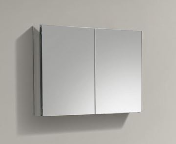 Picture of 1000 mm L Mirror Bathroom cabinet / Medicine cabinet with 2 soft closing doors with 2 shelves