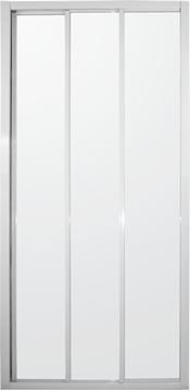 Picture of White Frame Tri Slider  3 panels Shower Door, 900 x 1850 mm H, 5 mm tempered glass