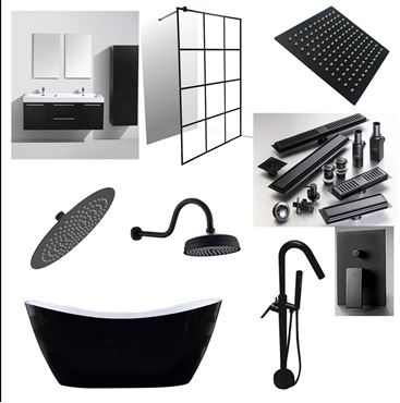 Picture for category BLACK Sanitary ware, Plumbing, Black fittings