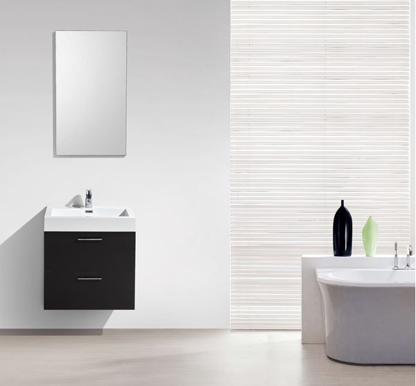 Picture of Trevi BLACK Bathroom cabinet, 575 mm length, 2 drawers, ref KC575B